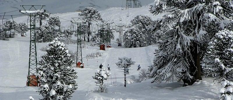 Pista de esqui Caviahue na Argentina