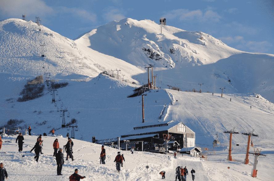 Pista de esqui Cerro Bayo na Argentina