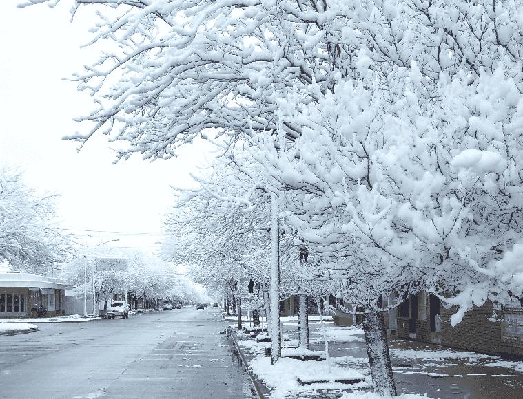 Neve em Córdoba na Argentina