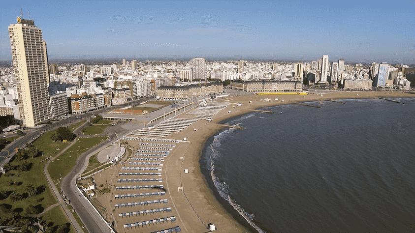 Praia Mar del Plata na Argentina