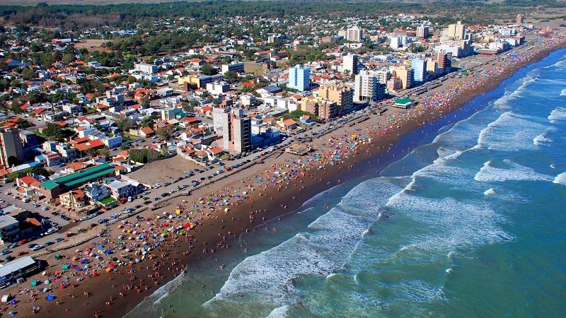 Praia Monte Hermoso na Argentina