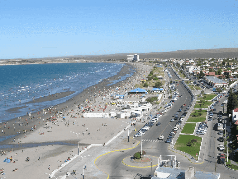 Praia Puerto Madryn na Argentina