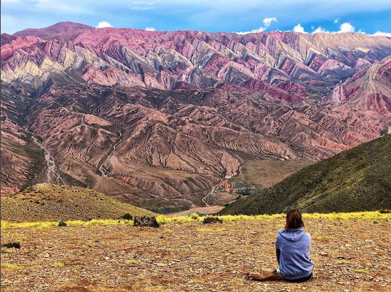 Turista curtindo outono na Argentina