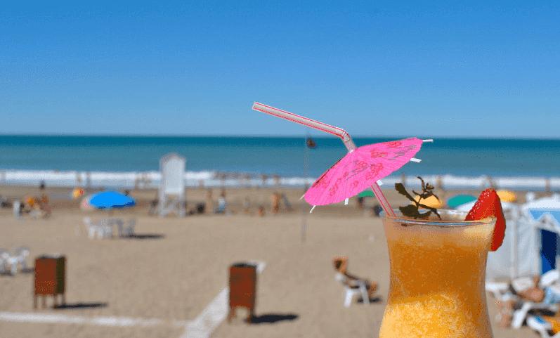 Praia Villa Gesell na Argentina