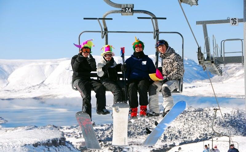 Como é a estação de esqui Caviahue