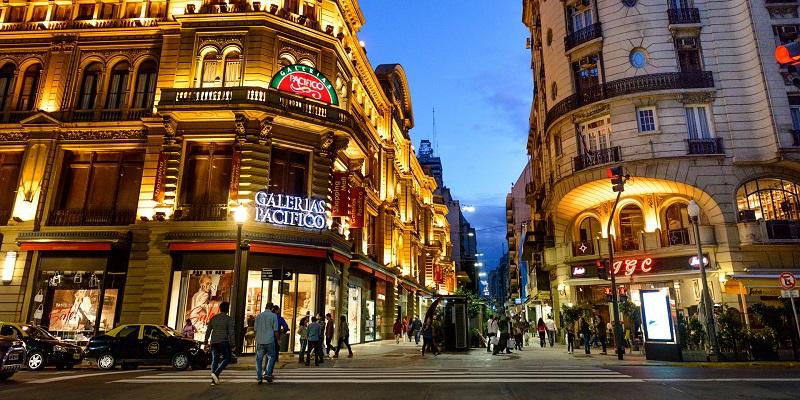 Compras na Galerías Pacífico em Buenos Aires