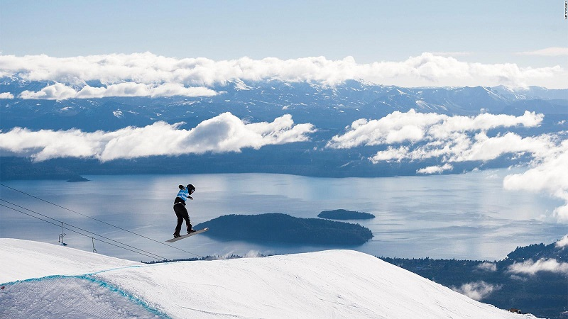Esquiando em Bariloche