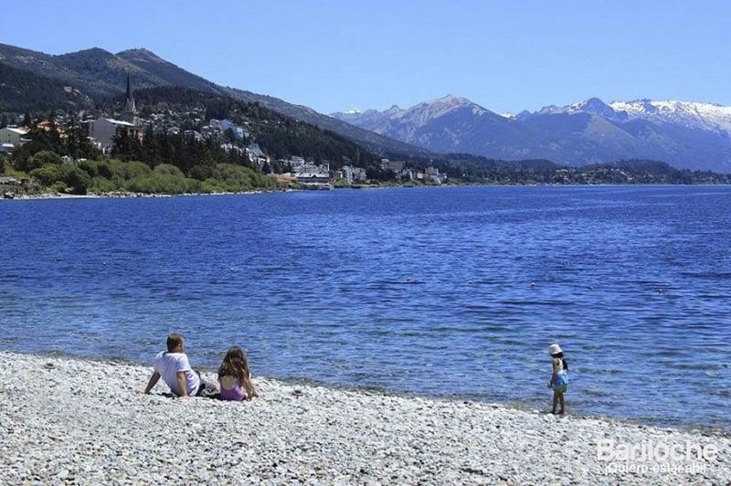 Praias em Bariloche com crianças