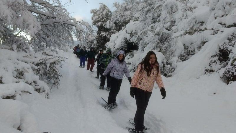 Caminhar com raquetes em Bariloche no inverno