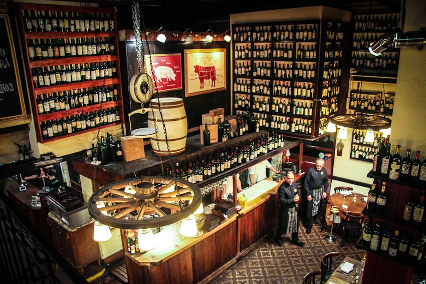 Estrutura do restaurante Don Julio