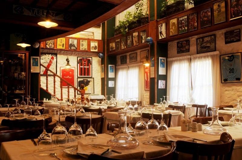 Estrutura do restaurante La Brigada