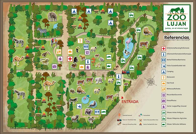 Zoológico de Luján em Buenos Aires - Mapa