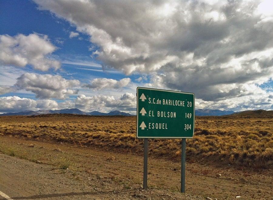 Estrada entre Buenos Aires e Bariloche