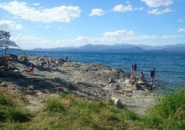 Praia Melipal em Bariloche