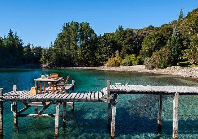 Praia Villa Tacul em Bariloche