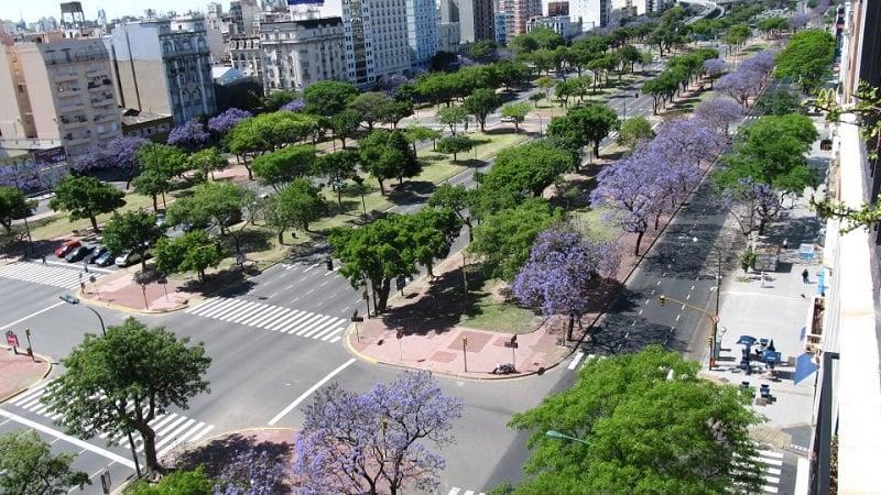 Primavera em Buenos Aires em novembro