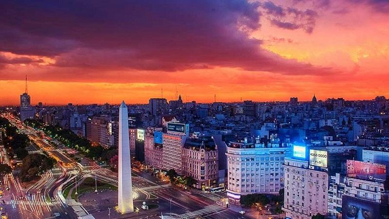 Pôr do sol de Buenos Aires - Argentina