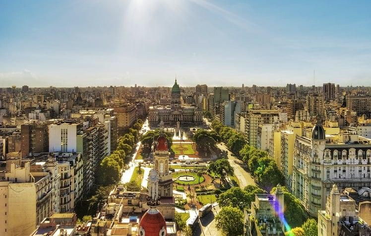 Hotéis no centro turístico de Buenos Aires