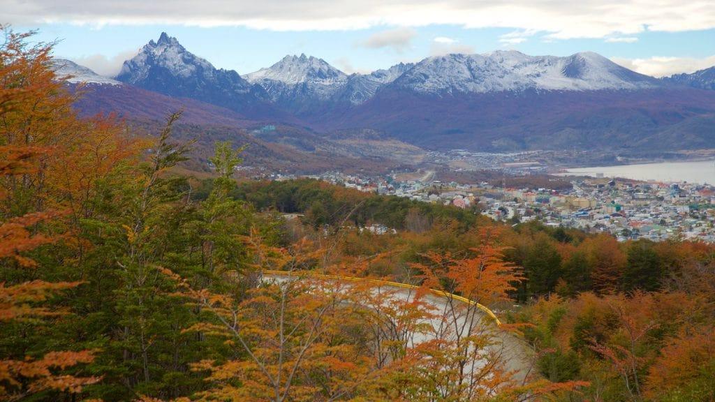 Paisagem de Ushuaia no outono