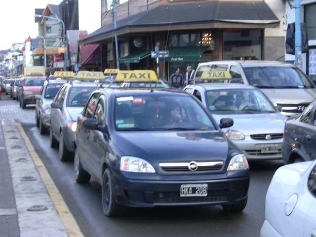 Pedindo um táxi em Ushuaia