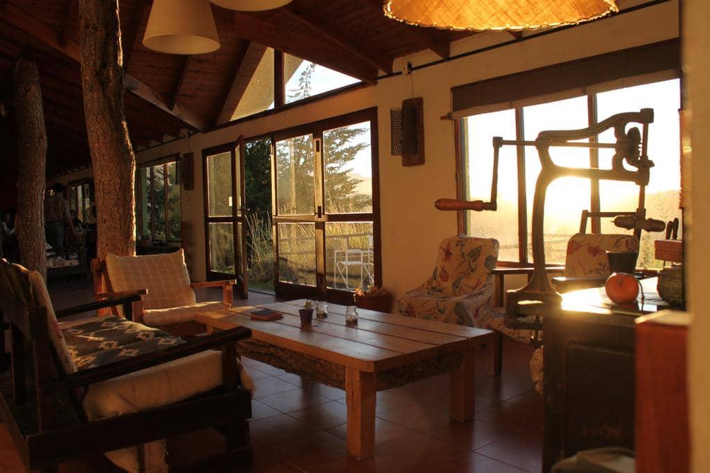 Interior da Hostería Los Barrancos em El Calafate