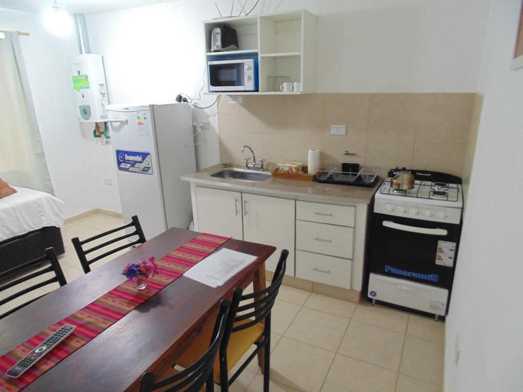 Cozinha do Chalé Cabañas Aluen em El Calafate