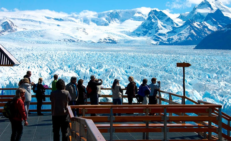 Passarelas do Glaciar Perito Moreno durante o inverno