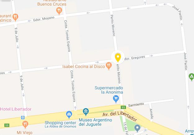 Mapa do Centro de El Calafate