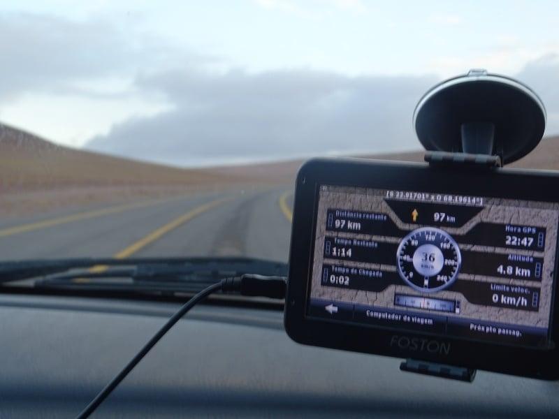 GPS no aluguel de carro em Salta