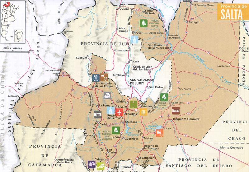 Onde ficar em Salta: mapa da cidade