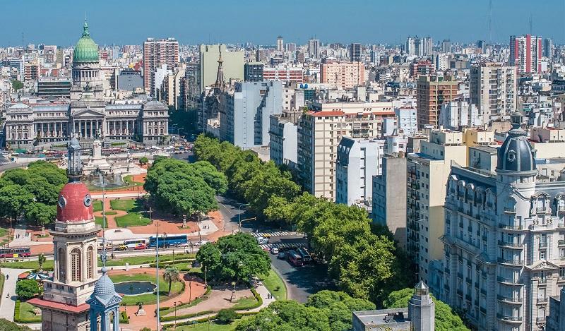 Dia ensolarado em Buenos Aires