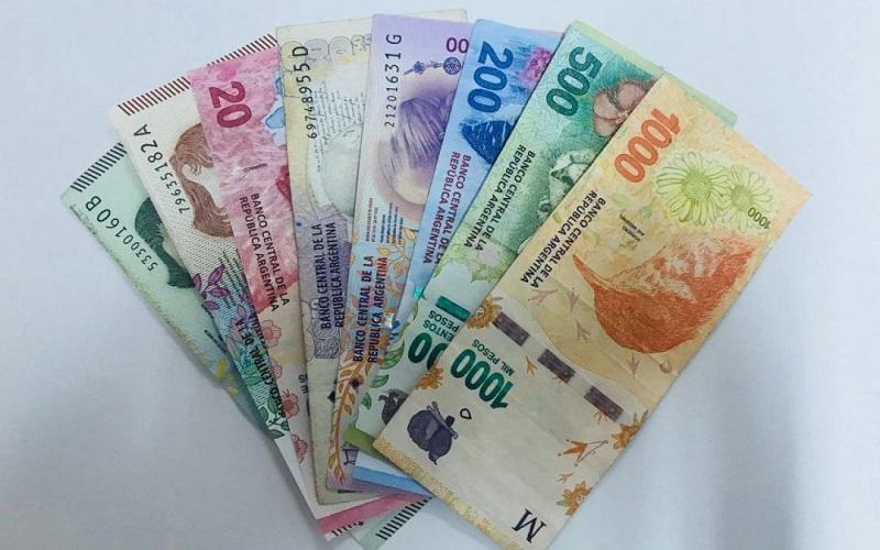 Pesos argentinos - dinheiro em espécie