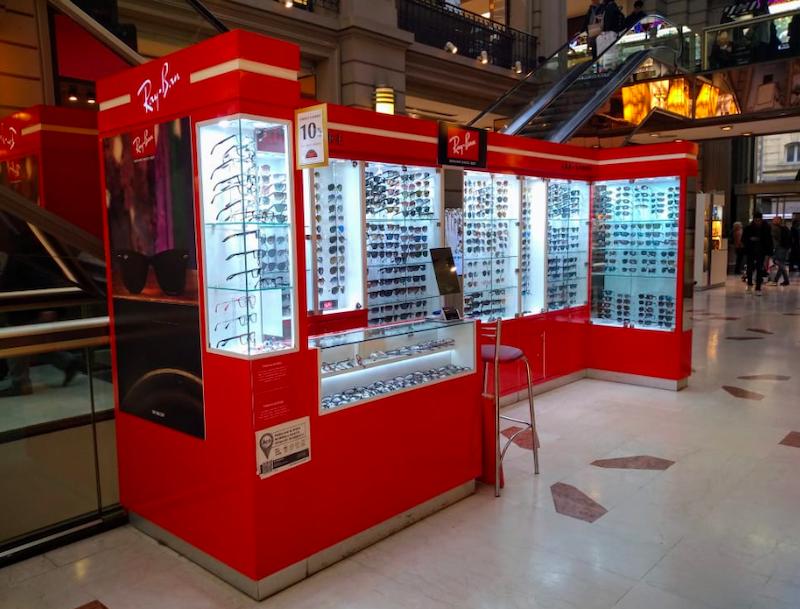 Onde comprar óculos escuros em Buenos Aires: Ray-Ban no shopping Galerías Pacífico