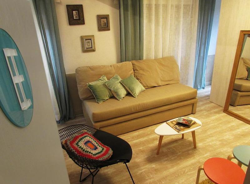 Área de estar do Hostel Boutique Vintage Bariloche