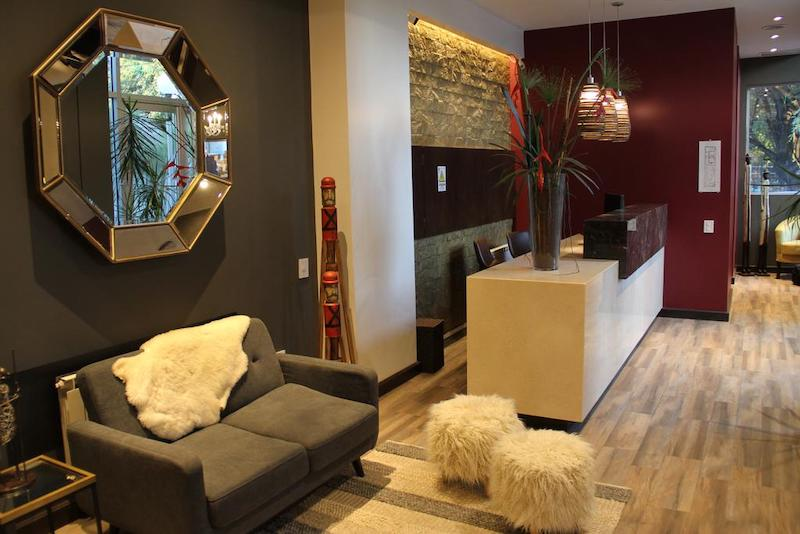 Interior do MG Design Hotel Boutique em Salta