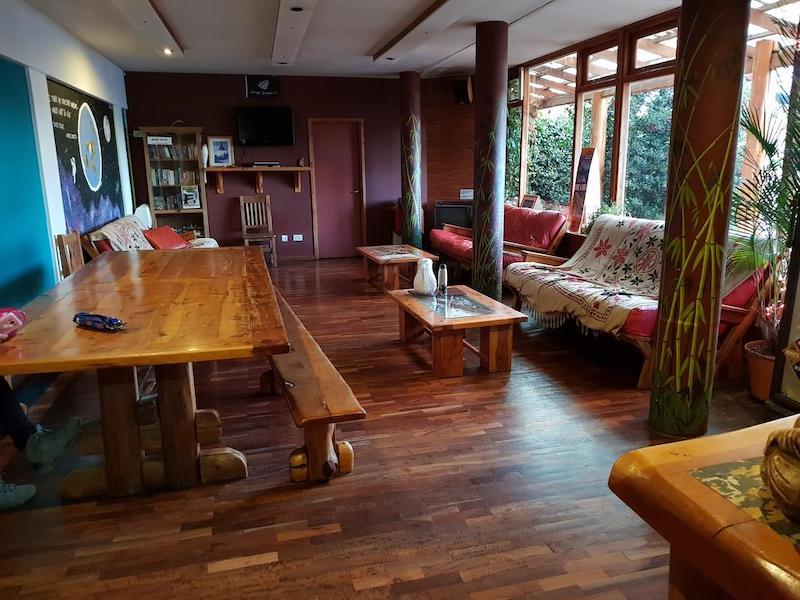 Lounge do Hostel Patagonia Jazz em Bariloche