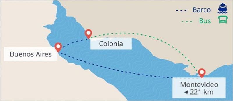 Como ir de ferry de Buenos Aires a Montevidéu