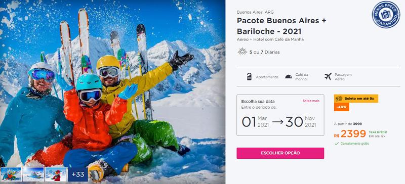Pacote Hurb para Buenos Aires + Bariloche