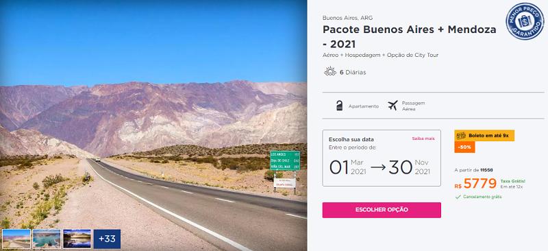 Pacote Hurb Buenos Aires + Mendoza