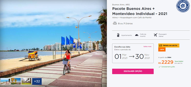 Pacote Buenos Aires + Montevideo: Hurb