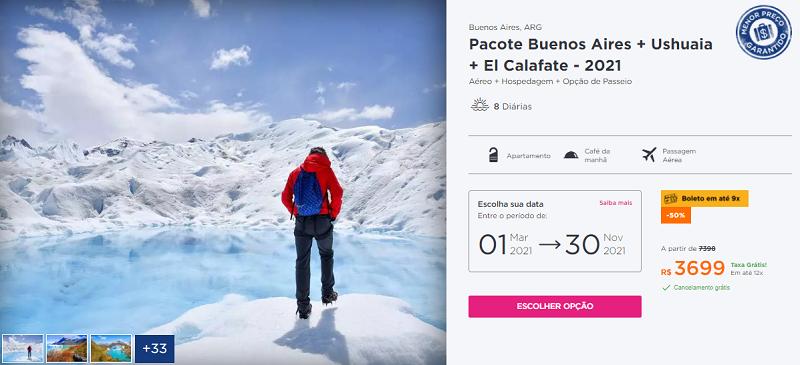 Pacote Buenos Aires + Ushuaia + El Calafate: Hurb