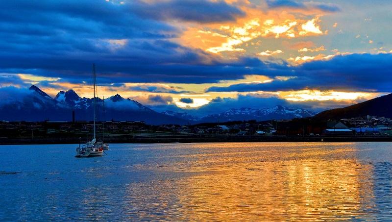 Pôr do sol em Ushuaia