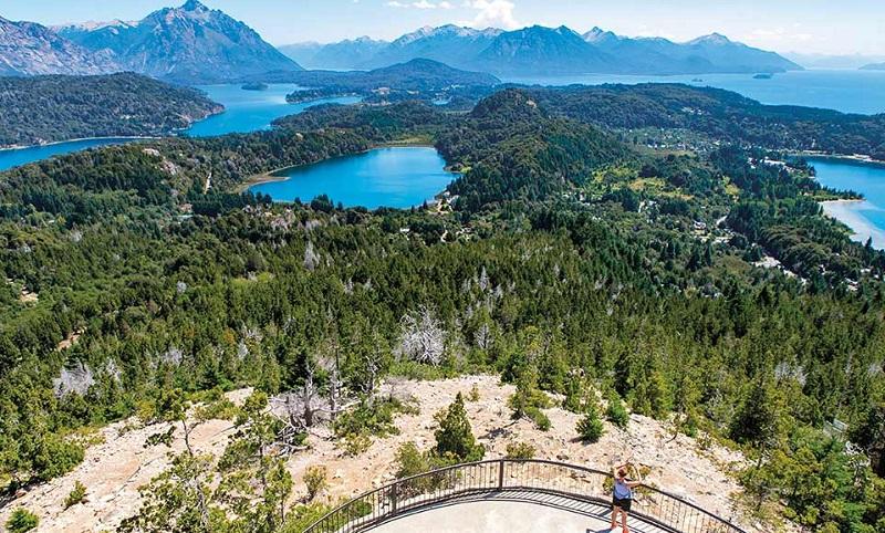 Vista paradisíaca de Bariloche na Argentina