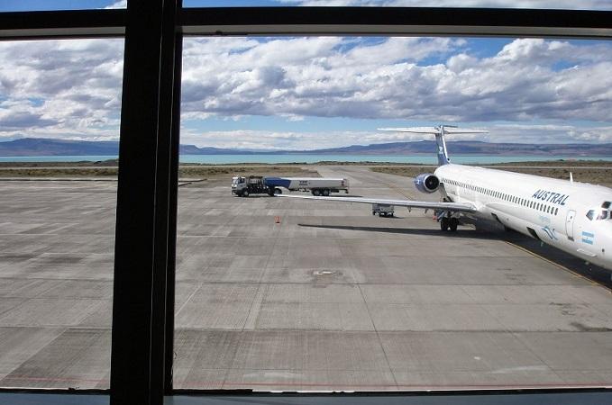 Transfer do aeroporto de El Calafate até o centro turístico